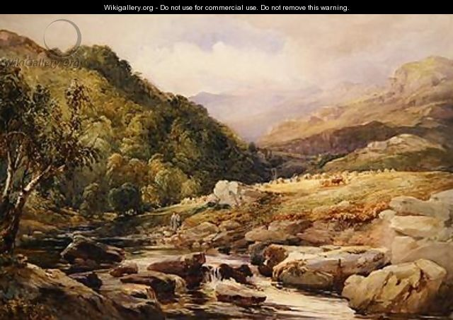Landscape with Stream and Haymakers - David Hall McKewan
