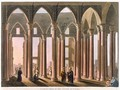 Josephs Hall in the Castle of Cairo plate 31 from Views in Egypt - Luigi Mayer