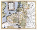 Map of Belgium pages 296-297 of Atlas sive Cosmographicae meditationes de fabrica mundi et fabricati figura - Gerard Mercator