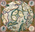 Septentrionalium terrarum descriptio map of the Arctic 1595 - Gerard Mercator