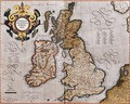 Map of the British Isles from Atlas sive Cosmographicae meditationes de fabrica mundi et fabricati figura 1595 - Gerard Mercator