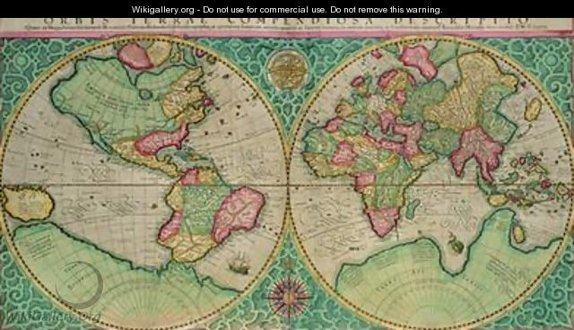 Map of the world from the Atlas sive cosmographicae - Gerard Mercator