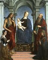 Madonna and Child with St Jerome and St John the Baptist and Donors - Marco Meloni