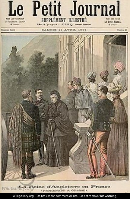 The Queen of England in France A Walk in Grasse from Le Petit Journal 11 April 1891 - Fortune Louis Meaulle