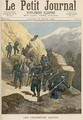 Mountain Infantrymen from Le Petit Journal 21st March 1891 - Fortune Louis Meaulle