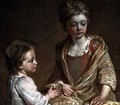 Portrait of Two of the Artists Children - Sir John Baptist de Medina