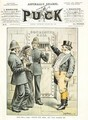 A Woman being Imprisoned from the cover of Puck magazine - Tom Merry