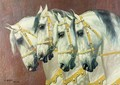 Heads of Four Horses - Oskar Merte