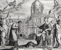 Robert de Sorbon 1201-94 and Cardinal Richelieu 1575-1642 in Front of the Sorbonne - Matthäus the Elder Merian