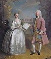 Portrait of Henry 7th Viscount Irwin and his Wife Anne - Philipe Mercier