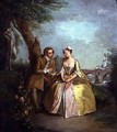 Conversation Piece or Lovers in a Park 1727 - Philipe Mercier