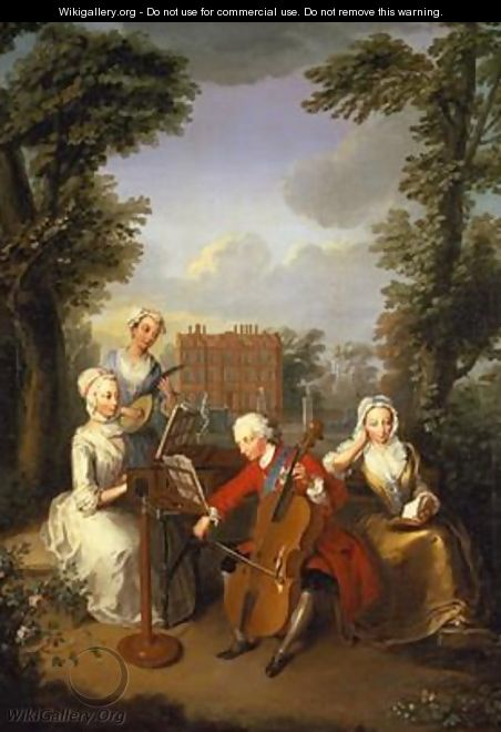 The Music Party Frederick Prince of Wales and his sisters 1733 - Philipe Mercier