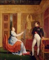 Marie Louise 1791-1847 of Habsbourg Lorraine Painting a Portrait of Napoleon I 1769-1821 - Alexandre Menjaud