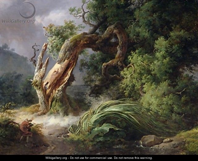 The Oak and the Reed 1816 - Achille-Etna Michallon