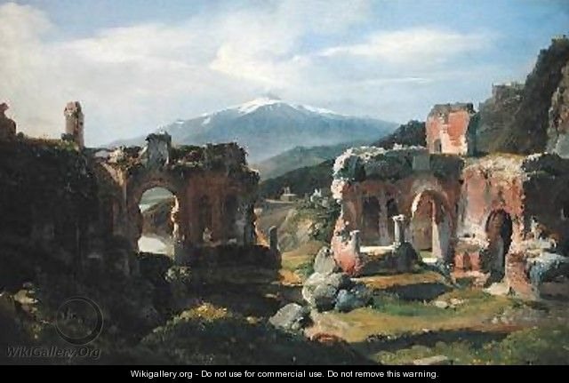 Ruins of the Theatre at Taormina - Achille-Etna Michallon