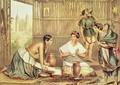 Indians Preparing Tortillas from An Album of the Mexican Republic - (after) Michaud, Julio
