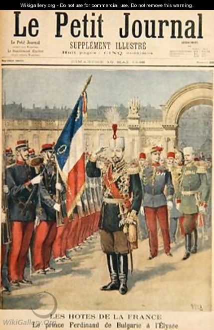 Prince Ferdinand 1861-1 illustration from Le Petit Journal 10 May 1896 - Henri Meyer