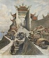 Sino-Japanese War Shanghai gate illustration from