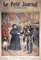 The French Hosts the Arrival of the Queen of England at Cherbourg front cover of Le Petit Journal 14 March 1897 - Henri Meyer