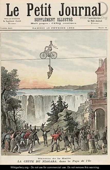 Theatre de la Gaite Performers at Niagara Falls from Le Petit Journal