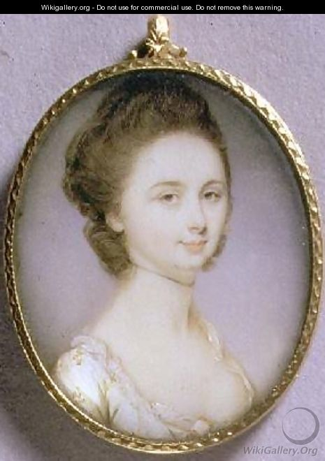 Portrait Miniature of a Lady in a White Dress 1780-85 - Jeremiah Meyer