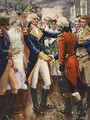 Washington taking leave of his officers illustration from This Country of Ours The Story of the United States - A.C. Michael