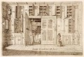 Interior Drawing RoomStudy from Cornelio Meyers Book of Knowledge 1696 - Cornelis Jansz Meyer