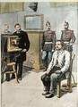 Professor Bertillon photographing Georges Henri Sautton, murderer of Louis Martin at Choisy-le-Roi illustration from Le Petit Journal May 1899 - (after) Meyer, Hans