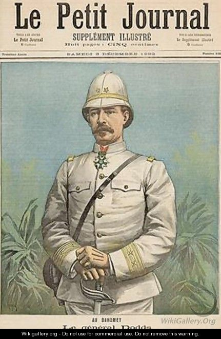 General Alfred Amedee Dodds 1842-1922 in Dahomey from Le Petit Journal 3rd December 1892 - Henri Meyer