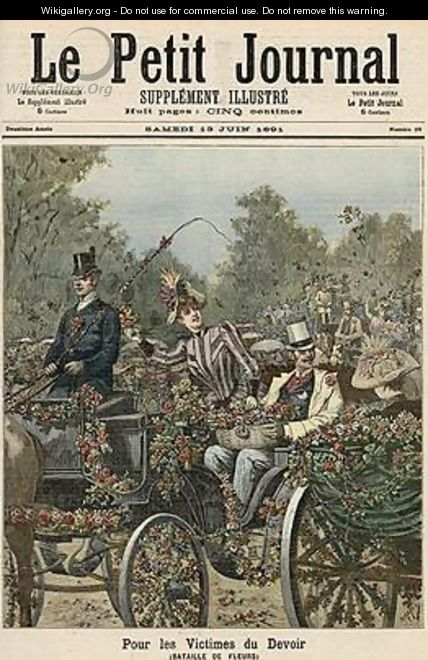 For the Victims of Duty The Battle of Flowers from Le Petit Journal 13th June 1891 - Henri Meyer