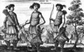 Warriors from the South from an account of a Dutch Embassy to China 1665 - Jacob van Meurs
