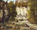 Riviere et falaise - Gustave Courbet