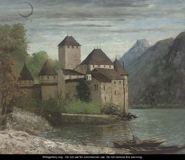 Le Chateau de Chillon - Gustave Courbet