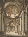 The interior of a church with a coffered dome - Giuseppe Barberi