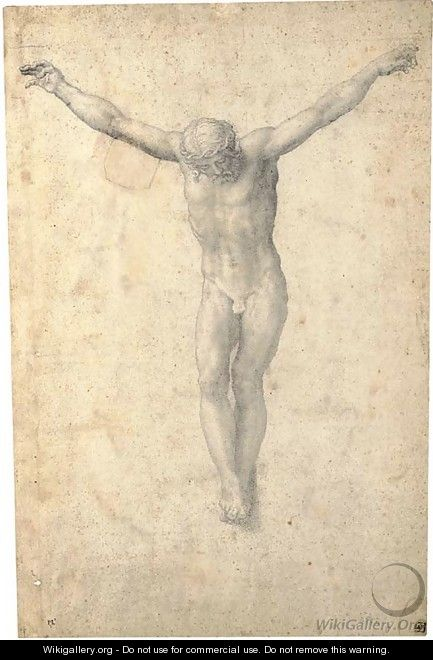 Christ on the Cross - Giorgio-Giulio Clovio