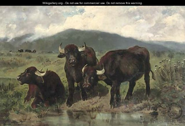 The watering hole 2 - Giuseppe Palizzi