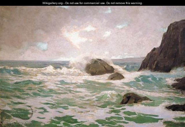 Late Afternoon Surf - Granville Redmond