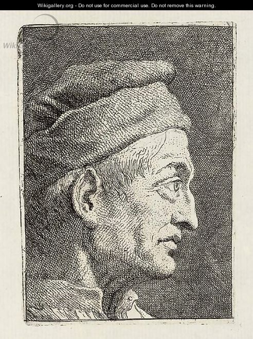 Profile of an old Man; Turk seen from the Front, from Raccolta di Teste II - Giovanni Domenico Tiepolo