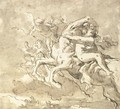 A centaur carrying off a nymph, accompanied by putti - Giovanni Domenico Tiepolo
