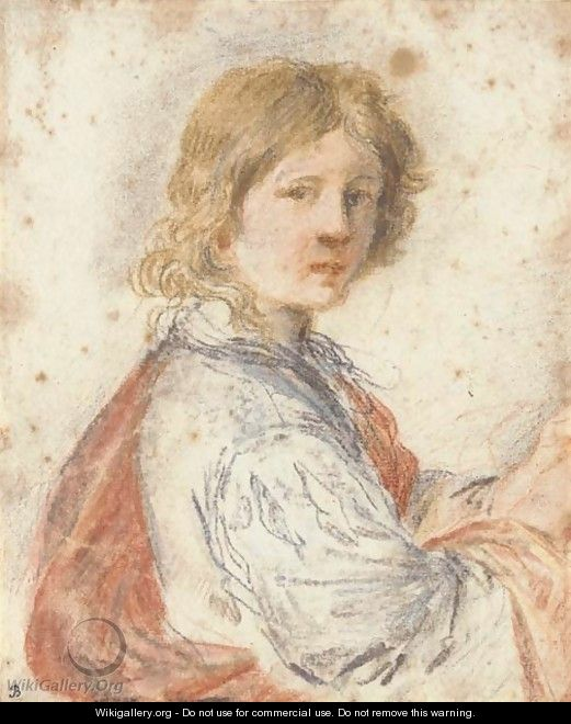 A young man, half-length - Giovanni Francesco Guercino (BARBIERI)