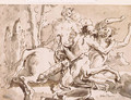 Nessus and Deianeira, with a satyr and another figure - Giovanni Domenico Tiepolo