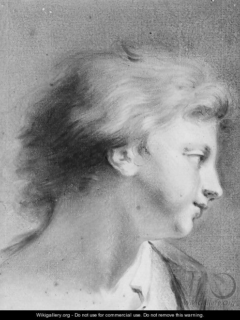 Portrait of a boy in profile to the right - Giovanni Battista Cipriani