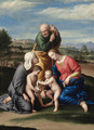 The Holy Family with the Infant Saint John the Baptist and Saint Elizabeth - Giovanni Battista Salvi, Il Sassoferrato