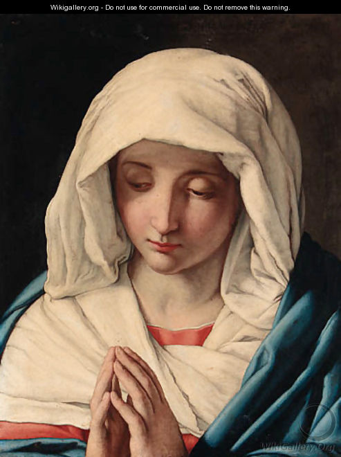 The Madonna at Prayer 2 - Giovanni Battista Salvi, Il Sassoferrato