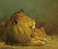 Lions at Rest - Geza Vastagh