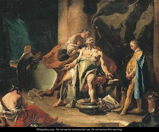 The Death of Seneca - Giovanni Battista Tiepolo