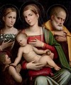 The Holy Family with the Infant Saint John the Baptist and Saint Elizabeth - Giacomo Raibolini