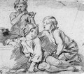 Three boys playing the flute - Giovanni Andrea Sirani