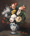 Vase of flowers - Germain Theodure Clement Ribot