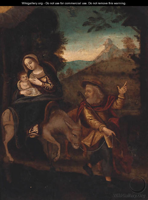 The Rest On The Flight Into Egypt - German School